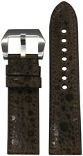 24mm RIOS1931 for Panatime Brown Toad Watch Strap with Match Stitching 24x22