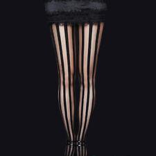 Restyle Negro Stripy Raya Medias. Tim Burton. Victoriano Gótico Moda.