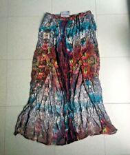 MINKPINK Long Skirt Split Front Batik Boho Goa MultiColoured Size S Elast Waist
