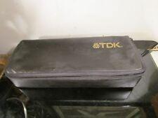 """TDK"""" 15 Cassette Tape Carrying Case- Black~"""