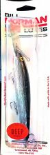 Vintage Bill Norman Lures Silver Black Back Deep Runner