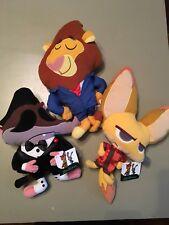 Zootopia Disney Plush Toy Set Of 3