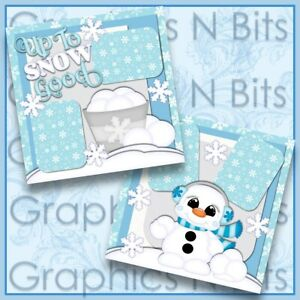 "UP TO SNOW GOOD 12""x12"" Printed Premade Scrapbook Pages"