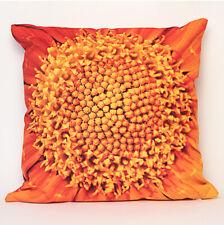 Coussin 40x40 cm collection fleurs - Coeur soucis orange