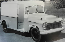 """12 By 18"""" Black & White Picture 1956 Chevrolet 2 """"milk truck"""" delivery"""