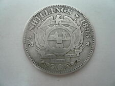 2 1/2 South African Silver Shillings Coin 1895.
