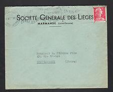 """MARMANDE (47) USINE de BOUCHONS """"Société Générale des LIEGES"""" Voyagée en 1956"""
