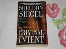Criminal Intent by Sheldon Siegel    *Signed*