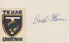 Davey O'Brien 1938 Heisman Trophy College Football SIGNED Index Card COA!