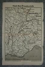 3/26/11 Historische Landkarte Süd Ost Frankreich v 1945