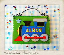 Boys Train Door Plaque Sign PERSONALISED WITH ANY NAME Thomas Tank Engine Style
