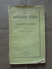 Preponderanza Germanica Occidente Europa Pensieri Balan 1871 FIlosofia Storia