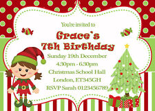 Personalised Christmas Party Invitations + Envelopes x12 a