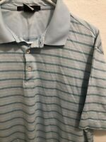 Tiger Woods Collection Dri-Fit Mens Striped Golf Polo Shirt Size Large