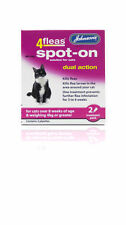 Johnson's 4 Flea Spot-on for Cats Dual Action Over 4kg
