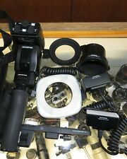 Olympus TF-22 Twin Flash complete set, with Transmitter F, RF-1, RF11, FP1 mount