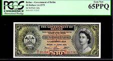 """BELIZE P36b """"QUEEN ELIZABETH II' $10 1975 PCGS 65PPQ"""