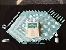 Stampin' Up LOST LAGOON In-Color Pack-Cardstock, Ink, Refill, Marker, DSP++