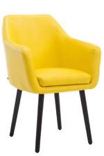 Chaises jaunes modernes pour la salle à manger