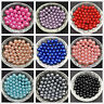 100pcs DIY 4mm 6mm 8mm No Hole Round Pearl Loose Acrylic Beads Jewelry Making ~