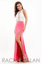 Authentic Rachel Allen 7214 Dress--Color: White/Hot Pink--Size: 10 -Prom Dress