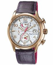 Citizen Eco-Drive Womens FC0003-00D World Time A‑T Purple Strap Watch