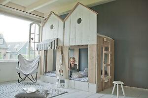 Kinderbett Bauholz Etagenbett | Hochbett Strandhaus | 2x SOFORT VERFÜGBAR