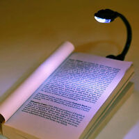 Mini Striking White LED Clip Booklight Portable Travel Book Reading Light Lamp