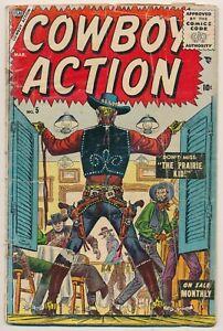 Cowboy Action 5 Golden Age Western Comic March 1955 Atlas Comics