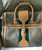 Authenticated Vintage Gucci GG Supreme Canvas Web Luggage Extra Large~ Footed