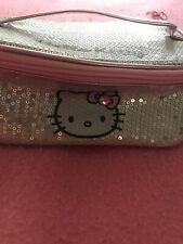 BNWT Hello Kitty Silver And Pink Sequin Make Up Bag