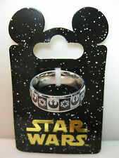 Disney Parks Star Wars Lucasfilm Stainless Steel Mens Band Ring Size 10 NEW