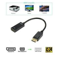 Displayport DP Male To VGA Female Adapter Display Port Cable Converter Black O6U