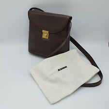 Vintage Jil Sander Brown Leather Satchel Bag 1990's