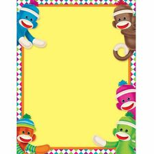 Sock Monkeys Learning Chart Trend Enterprises Inc. T-38470
