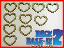 MDF Wooden Shapes Hearts 10cm 100mm High 3mm Thick Custom Cut x 10 pieces 034
