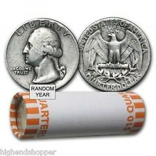 Roll of 40 Circulated US Quarters - Various Designs