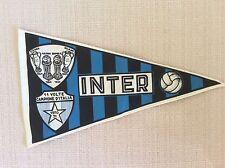 BANDIERINA CALCIO 1971 INTER F.C. SCUDETTO E COPPE  PER MANUBRIO BICICLETTA