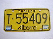 1982 ALBERTA Vintage License Plate TRAILER # T-55409
