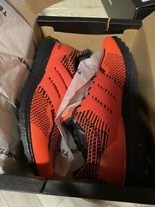 Adidas Ultra boost DNA 5.0 Men's size 10 Solar Red Black $180 Retail