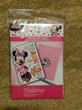 MINNIE MOUSE Happy Helpers THANK YOU NOTES (8) ~ Birthday Party Supplies Cards