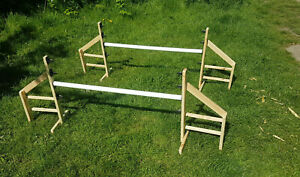 Dog Agility Jump Set Wing Equipment Training Obedience KC Wood Wooden Hurdles