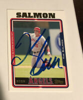 TIM SALMON 2005 TOPPS AUTOGRAPHED SIGNED AUTO BASEBALL CARD 623 ANGELS