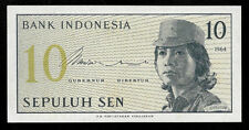 Affordable World Banknotes - Indonesia 10 Sen 1964 Prefix BCJ @ Crisp UNC