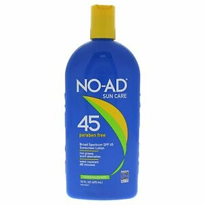 New No-Ad Sun Care Broad Spectrum Sunscreen Lotion 45 Paraben Free EXP 01/2021
