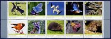 2019 Isle of Man, fauna, birds, Europe, hedgehog, lizard, butterflies, 10 stamps