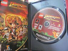 Playstation 2 Indiana Jones The Original Adventures LEGO w/ Case & Book TESTED