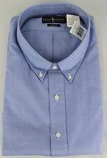 Ralph Lauren Polo Classic Fit Dress Shirt Mens 22 36 37 Blue Navy Pony New