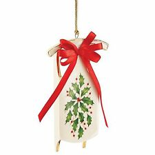 Lenox 2015 Holiday Sleigh Sled Ornament Holly Berries 1st Quality New