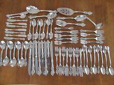 ORLEANS by International Deep Silver Plate 8 Pl Dinner Set - 62 Pieces  Flatware
